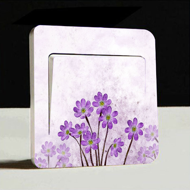 Buy 1pc Flower Artistic Switch Cover Wall
