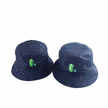 f3db6502ed304 2019 1pc Two Side Reversible Alien Bucket Hat Unisex Fashion Bob Caps Hip  Hop Gorros Summer