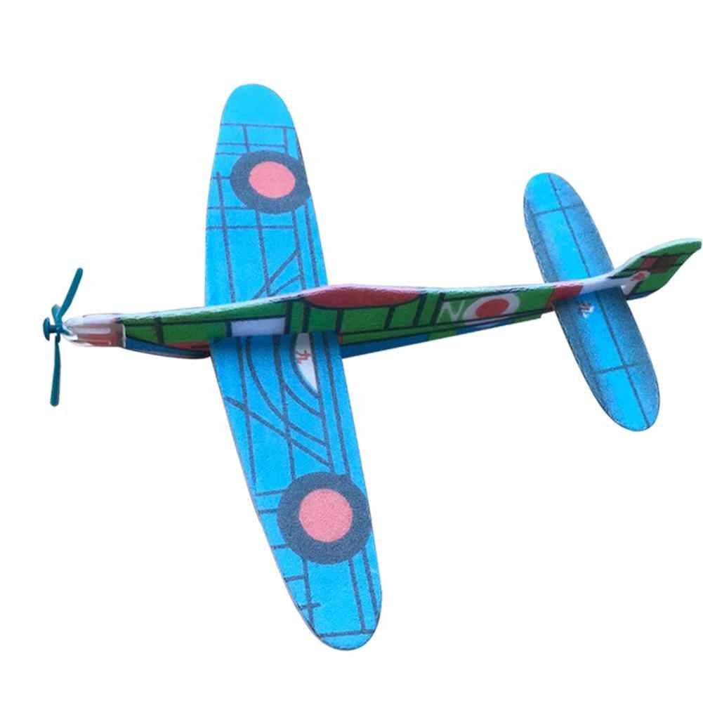 DIY Assembled Helicopter Model Hand-Made Foam Wings Gliding Aircraft Children Puzzle Aircraft Model Stitching Toys Random Color