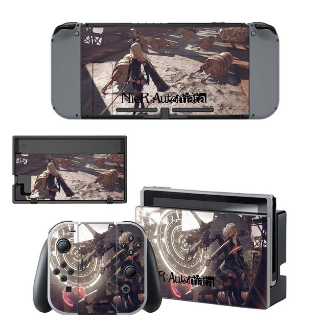 NieR:Automata Sticker - Vinyl Skin for Nintend Switch Skins Set for NS Console and Joy-con Controller 3