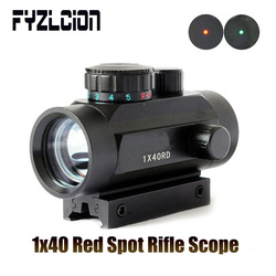 FYZLCION 1X40 ยุทธวิธี Holographic สีแดงจุดสีแดงสายตา Crosshair Sight 11mm Rail ติดตั้งสำหรับ Air Gun 20m