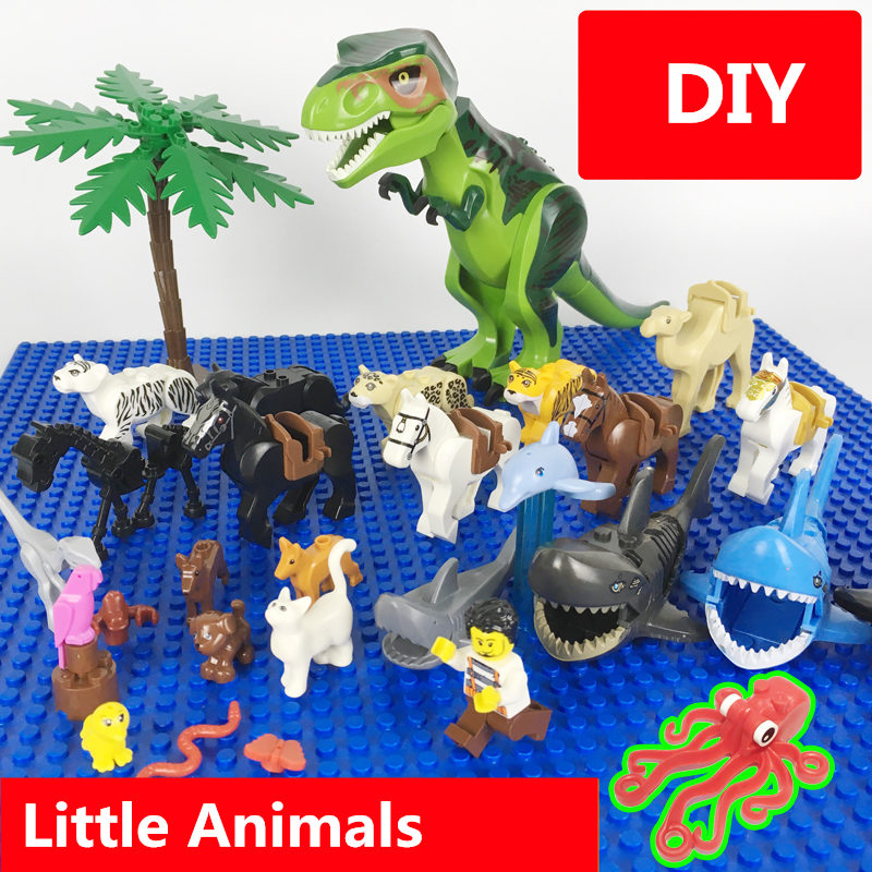 Dubbi Building Blocks Animal Minifigures Compatible With Legoe Small Particle Building Blocks,for Diy Gift