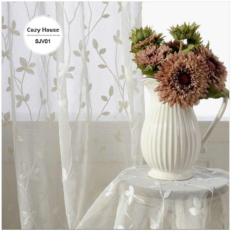 Λευκά είδη Κουρτίνες για σαλόνια - Αρχική υφάσματα - Φωτογραφία 4