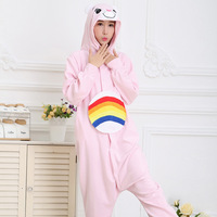 Cartoon Animal Pajamas RAINBOW BEAR Care Bears Sloth Fox Lizard Rhinoceros Eagle Crocodile Adults Fancy Party Costumes cosplay .