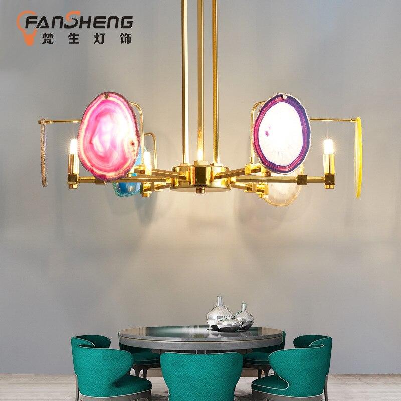 Современные светодио дный Macaron деревянная люстра Лофт светильники Nordic подвесные светильники спальня освещение гостиная подвесной светиль
