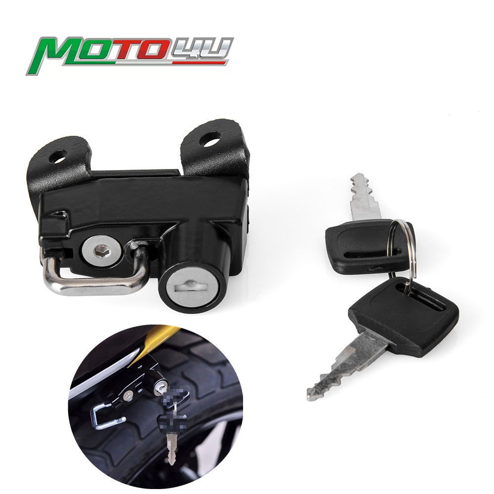 Motoecycle Helmet Lock Black With 2 Keys Motorbike Accessories For Ducati Scrambler 800