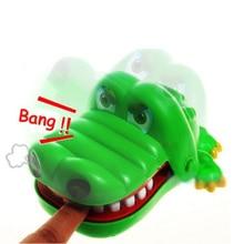 Маленький размер крокодил Рот дантист кусает за палец игра забавные затычки игрушка Новинка игрушка для детей