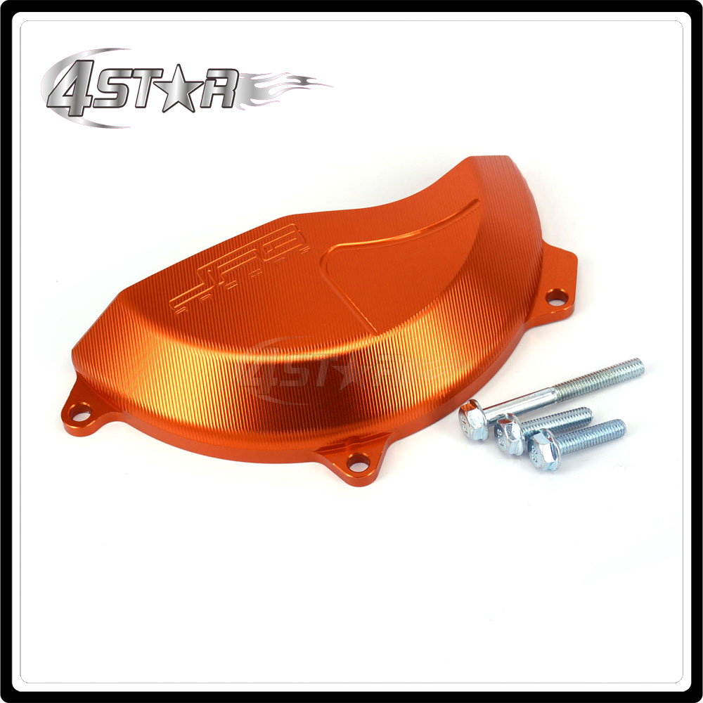 Motorcycle Right Engine Stator Cover Guard For KTM SXF450 SX-F SXF 450 SX-F450 2016 2017 EXCF EXC-F EXCF450 EXC-F450 17 Aluminum motorcycle front rider seat leather cover for ktm 125 200 390 duke