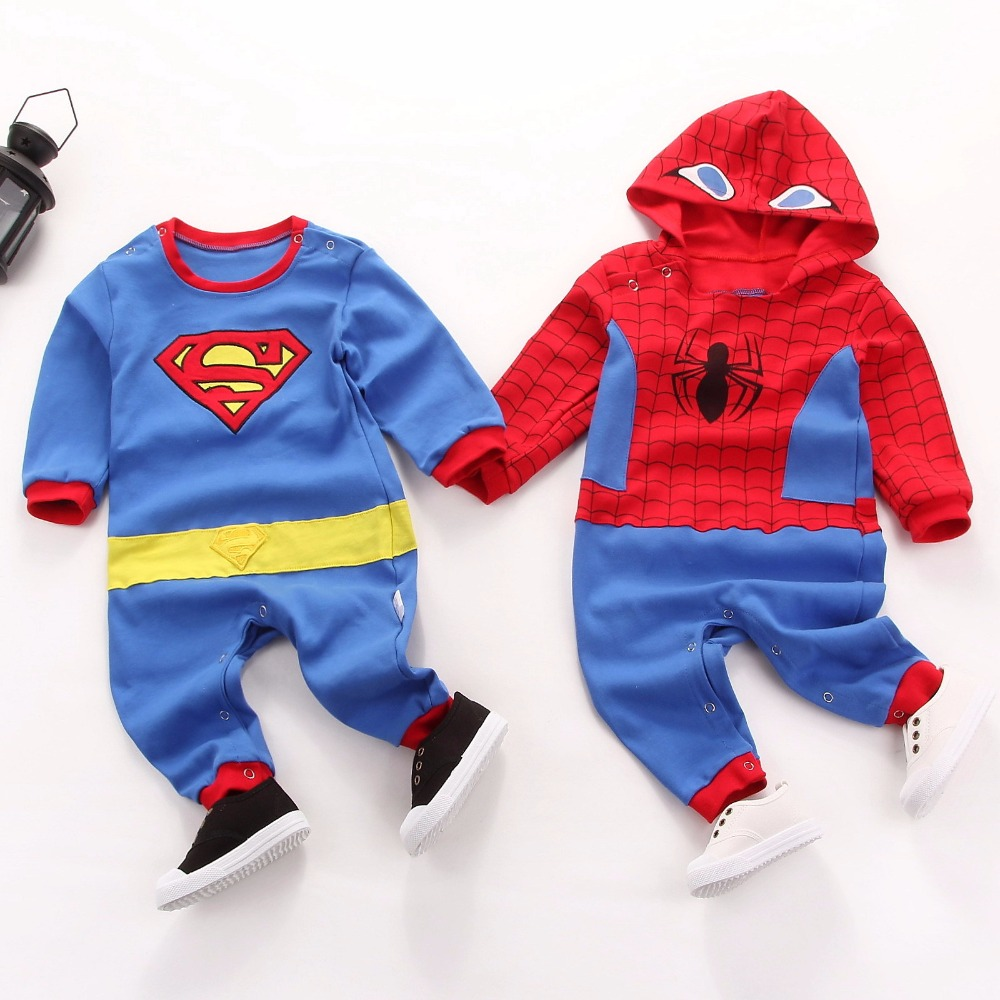Newborn Baby Bruce Lee Kungfu Superman Rompers Embroidery Yellow