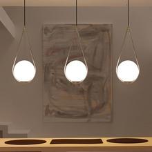 اسكندنافية الكرة الزجاجية قلادة الخفيفة الحديثة المستديرة العالمية معلقة الخفيفة/قلادة مصباح ديكور قلادة الإضاءة لاعبا اساسيا