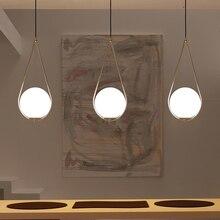 Lámpara colgante con bola de cristal de estilo nórdico, lámpara colgante moderna, redonda, universal, decorativa