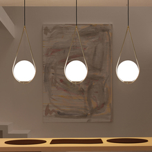 Nordic bola de vidro pingente luz moderna redonda global pendurado luz/luminária pingente decorativo