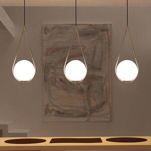 Image 1 - Nordic bola de vidro pingente luz moderna redonda global pendurado luz/luminária pingente decorativo