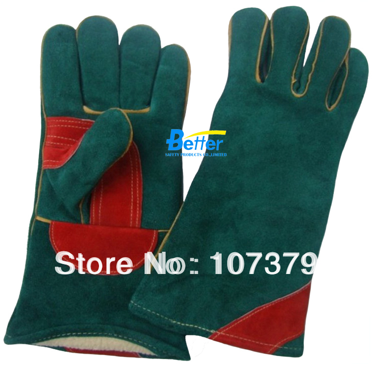 купить Work Glove Leather Welding Safety Gloves TIG MIG Work Gloves Warm Winter Welder Glove дешево