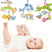 High Quality Happy Monkey Stuffed Handbells Baby Rattles Plush Toys Baby Bed Hanging Rattles Mobiles Teeters Child Toys