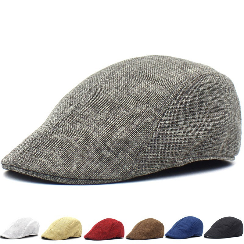Wholesale Spring Summer Beret Caps Outdoor Sun Hats Women Men Hat Adjustable Newsboy Flat Ivy Peaked Caps Casquette