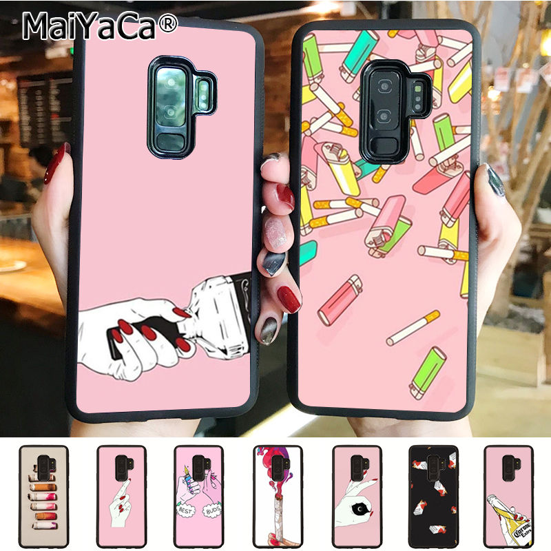 Half-wrapped Case Cellphones & Telecommunications Maiyaca Black Background Novelty Fundas Phone Case Cover For Samsung Galaxy S9 S9 Plus S4 S5 S6
