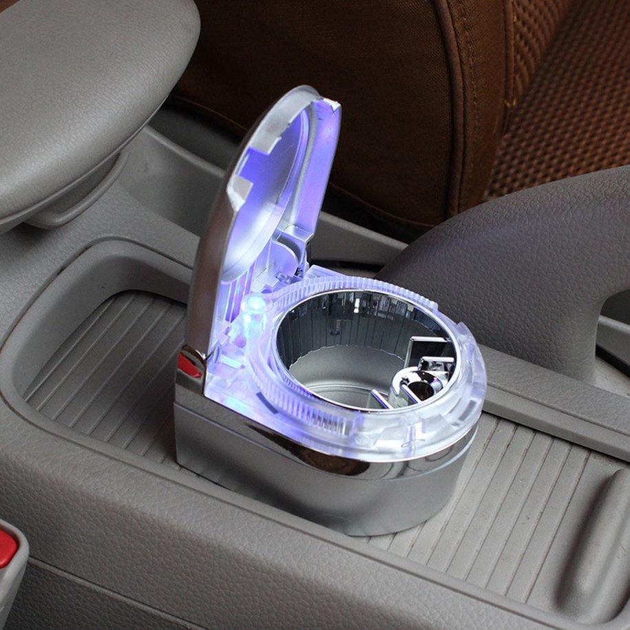 Прочная автомобильная пепельница со светодиодной подсветкой для автомобиля и домашнего использования
