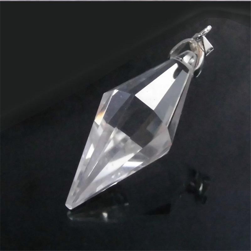Vendita calda di trasporto del Nuovo naturale Trasparente di cristallo bianco pendoli per rabdomanzia reiki Chakra guarigione cristalli fascini della collana ciondolo in filigrana