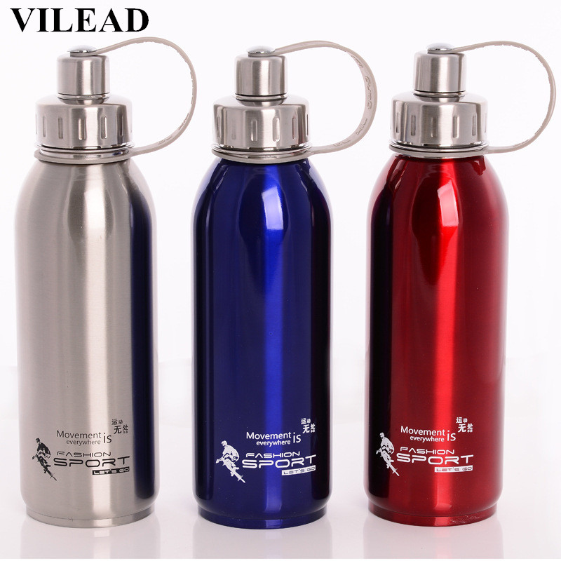 VILEAD Sport Thermos Tazza Teiera In Acciaio Inox Boccette di Vuoto Isolato Tazze di Tè Portatile Filtro Infusore Bottiglia D'acqua All'aperto