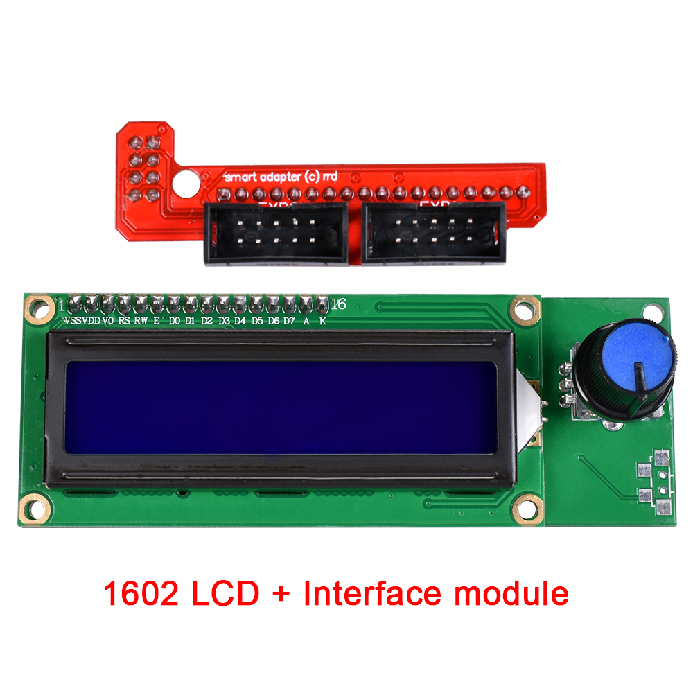 1602 LCD Display 3D Printer Reprap Smart Controller Reprap Ramps 1.4 2004 LCD Control display Module 1 pcs ramps1 4 lcd 12864 control panel 3d printer smart controller lcd display free shipping drop shipping l101