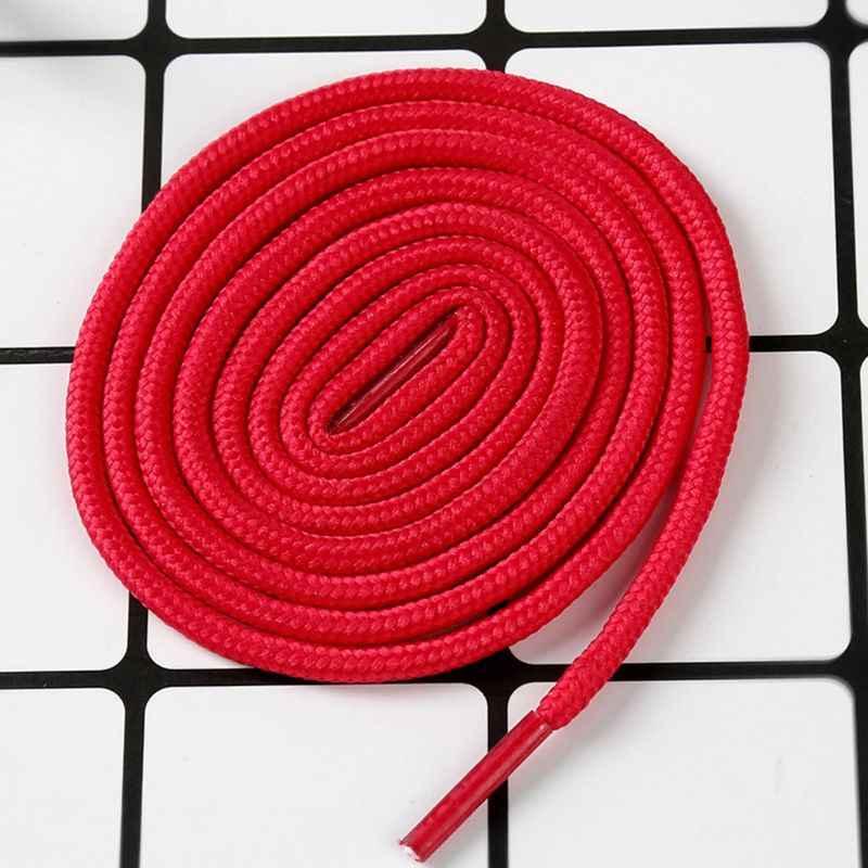 2 unids/par 10 colores 80 cm poliéster Cordones redondos Universal colorido caramelo colores corredores atletas cuerdas de zapatos