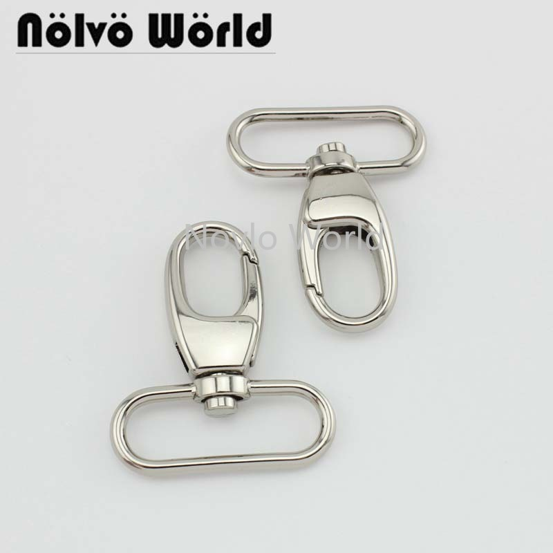 Wholesale 500pcs, 5 Colors Accept Mix Color, 54*38.5mm 1-1/2 Inch Metal Snap Hook Swivel Clasp Lobster Claws Hooks Hardware Hook