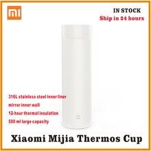 Xiaomi mijia תרמוס בקבוק 500 ML כוס תרמית ואקום ספל 12 שעות לשמור חם קר מים יום הולדת מתנה לילד ילדה הידידה