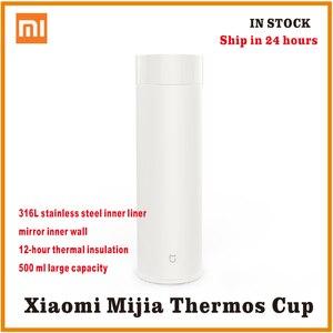 Image 1 - Xiaomi mijia תרמוס בקבוק 500 ML כוס תרמית ואקום ספל 12 שעות לשמור חם קר מים יום הולדת מתנה לילד ילדה הידידה