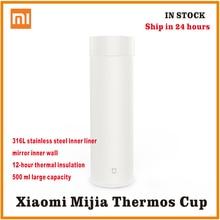 شاومي mijia زجاجة تُرمُس 500 مللي كوب الحرارية فراغ القدح 12 ساعة الدفء المياه الباردة هدية عيد ميلاد لصبي فتاة صديق امرأة