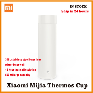 Image 1 - xiaomi mijia Thermos bottle 500ML cup Thermal Vacuum mug 12 hours keep warm cold water birthday gift for boy girl friend woman