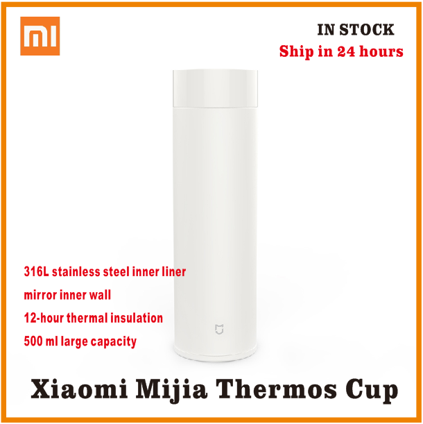xiaomi mijia Thermos bottle 500ML cup Thermal Vacuum mug 12 hours keep warm cold water birthday gift for boy girl friend woman image