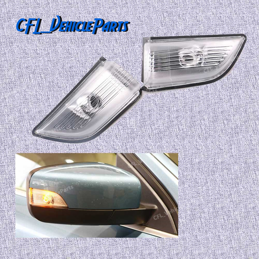 Pair Front L R Wing Mirror Turn Signal Indicator Lamp Light Lens 31217289 31217288 For Volvo XC60 2009 2010 2011 2012 2013