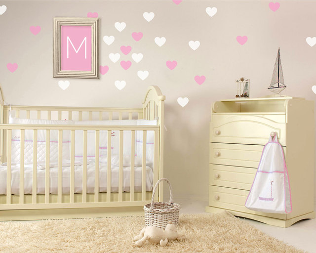 Leuke Babykamer Muurstickers : Hart muur confetti set van hart muurstickers leuke custom