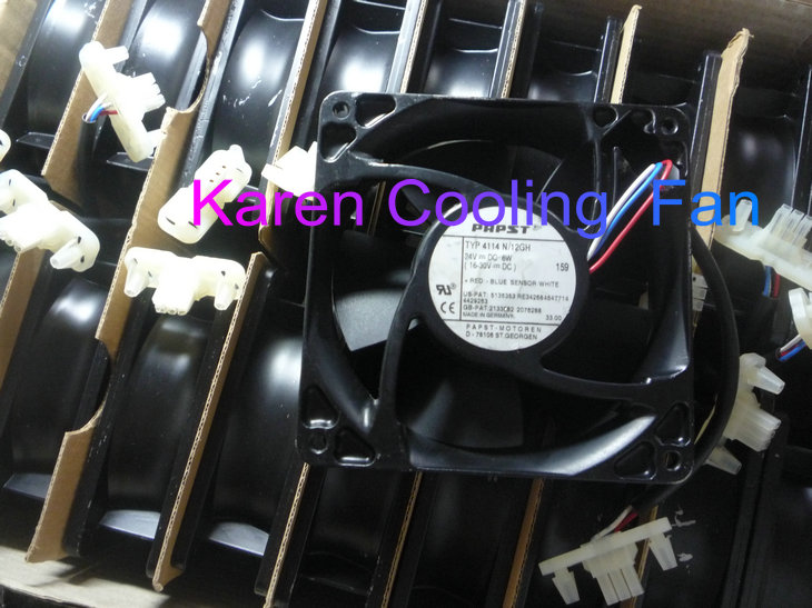 New Original EBM PAPST TYP4114N /12GH 24v 6W DC24V (12-30)  120*120*38MM 12cm Inverter cooling  fan new and original qfr1224ehe 12038 12cm 24v 0 75a wind capacity inverter fan for delta 120 120 38mm