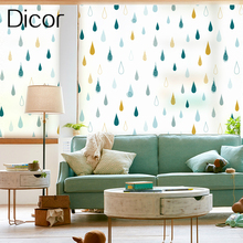 Colorful Raindrop Art Series Dicor Brand Window Sticker In Decorative Film High Quality Vinyl Frosted Opaque Static Cling Decal