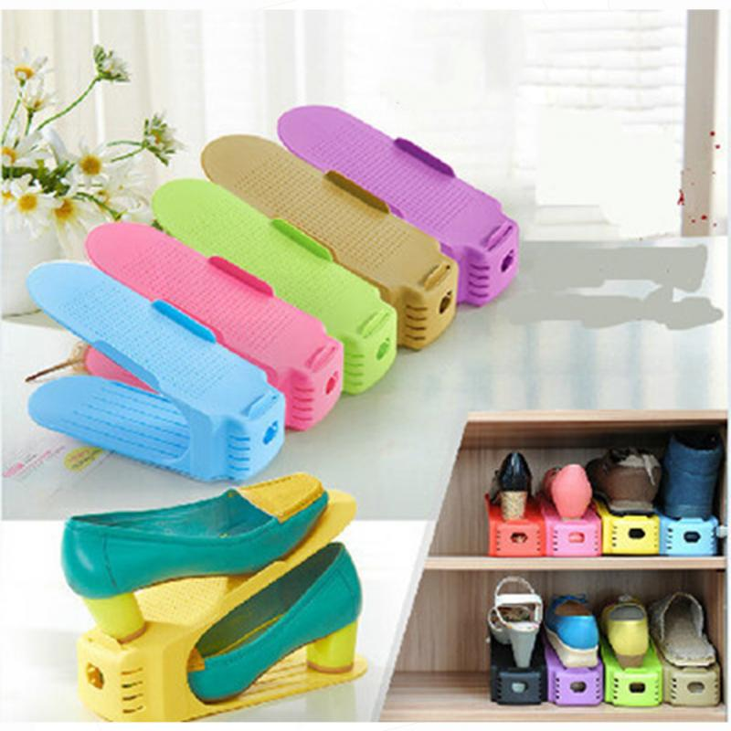 new design shoe organizer rack space optimizing fits most standard shoes in shoe racks organizers from home garden on aliexpresscom alibaba group - Shoes Organizer