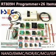 הכי חדש אוניברסלי RT809H EMMC Nand פלאש מתכנת + 26 ItemsTSOP56 TSOP48 מתאם EMMC NAND ולא טוב יותר מ RT809F TL866CS TL866A
