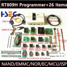 Yeni Evrensel RT809H Emmc nand FLASH Programcı + 26 ItemsTSOP56 TSOP48 Adaptörü EMMC NAND VEYA daha iyi RT809F TL866CS TL866A