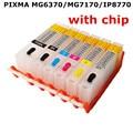 1 Набор для CANON PIXMA MG6370 MG7170 IP8770 принтер PGI-750 BK CLI-751 многоразовые картриджи 6 цветов с постоянными чипами