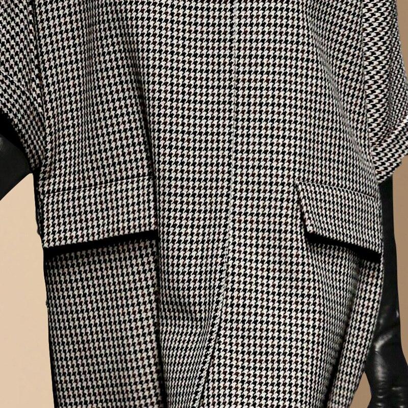Vêtements Manteau Ha355 Laine Patchwork Ardoisé Oversize 2018 Hiver Décontractés Automne Femmes De Épaule Femme Tops Veste Plaid Drop RPqx1wat