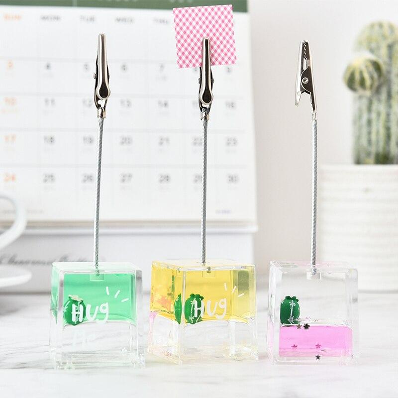 Small Ornaments Desktop Photo Display Creative Cute Girl Desktop Oil Message Clip Pink Girl Heart