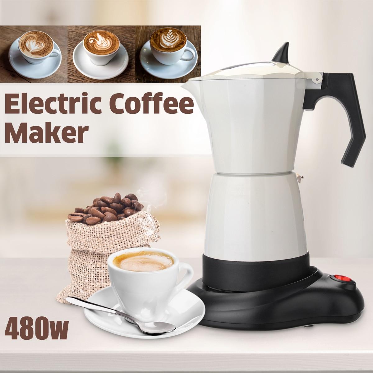 480 Вт 6 чашки Электрический Чай Кофе Maker горшок эспрессо Cafetera машина мокко съемный Кухня инструмент офис