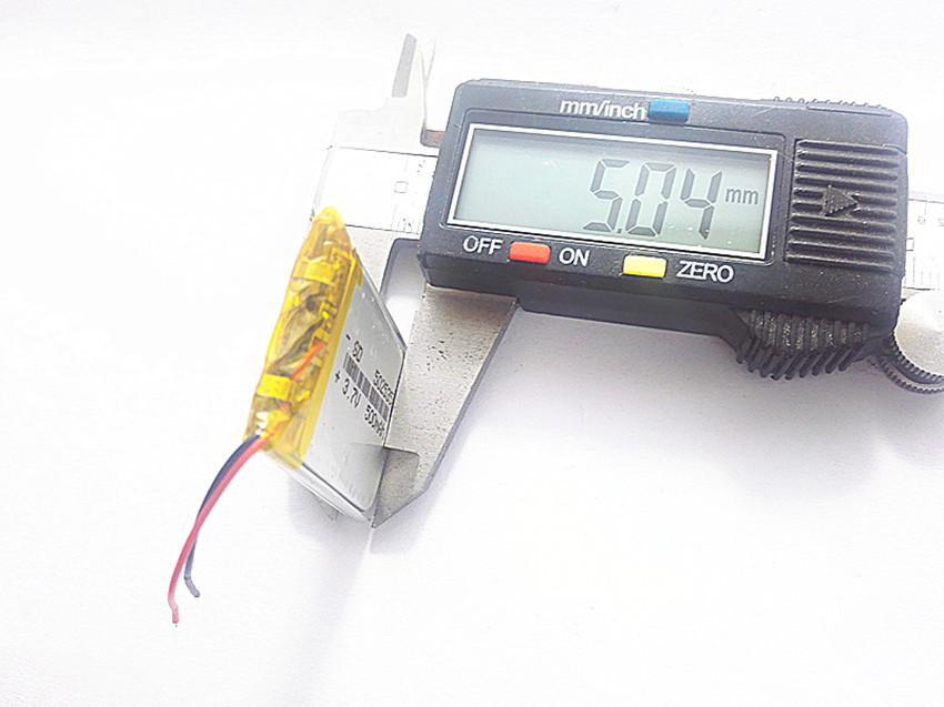 3.7V,500mAH 502535 PLIB (polymer lithium ion / Li-ion battery ) for Smart watch,GPS,mp3, ...