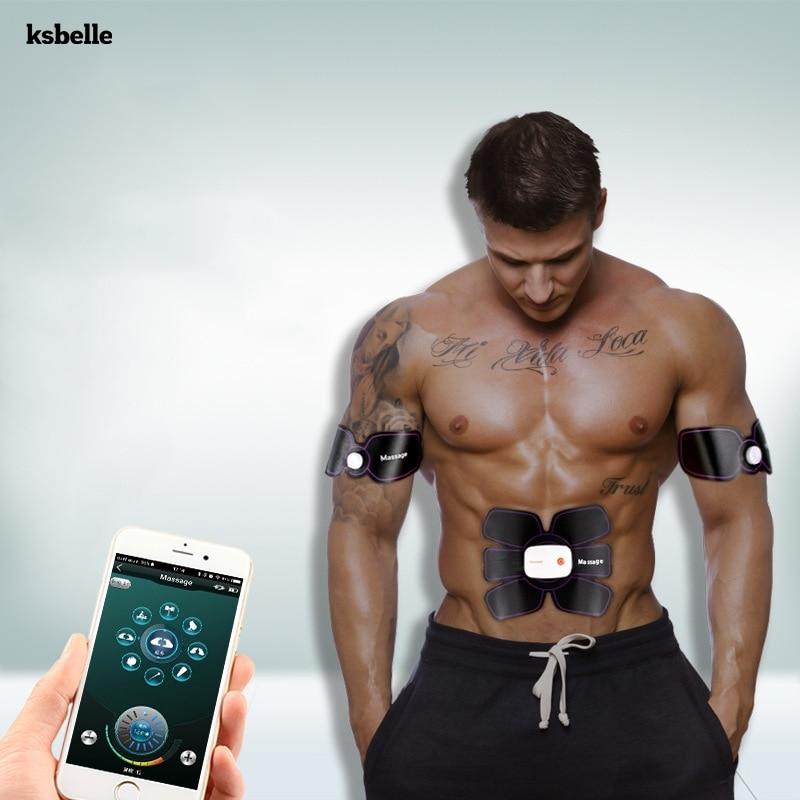Smart App Multi EMS Stimulator Abdominal Muscle Trainer Slimming Body Sculptor Butterfly Belt Gym Pad Exerciser Fat Burner