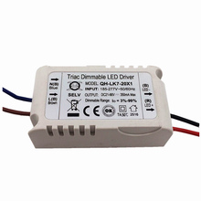5 Pcs Isolation 20W AC185-277V Dimmable LED Driver 7-20x1W 300mA 3%-99% DC21-66V ConstantCurrent For Ceiling Lamp Free Shipping