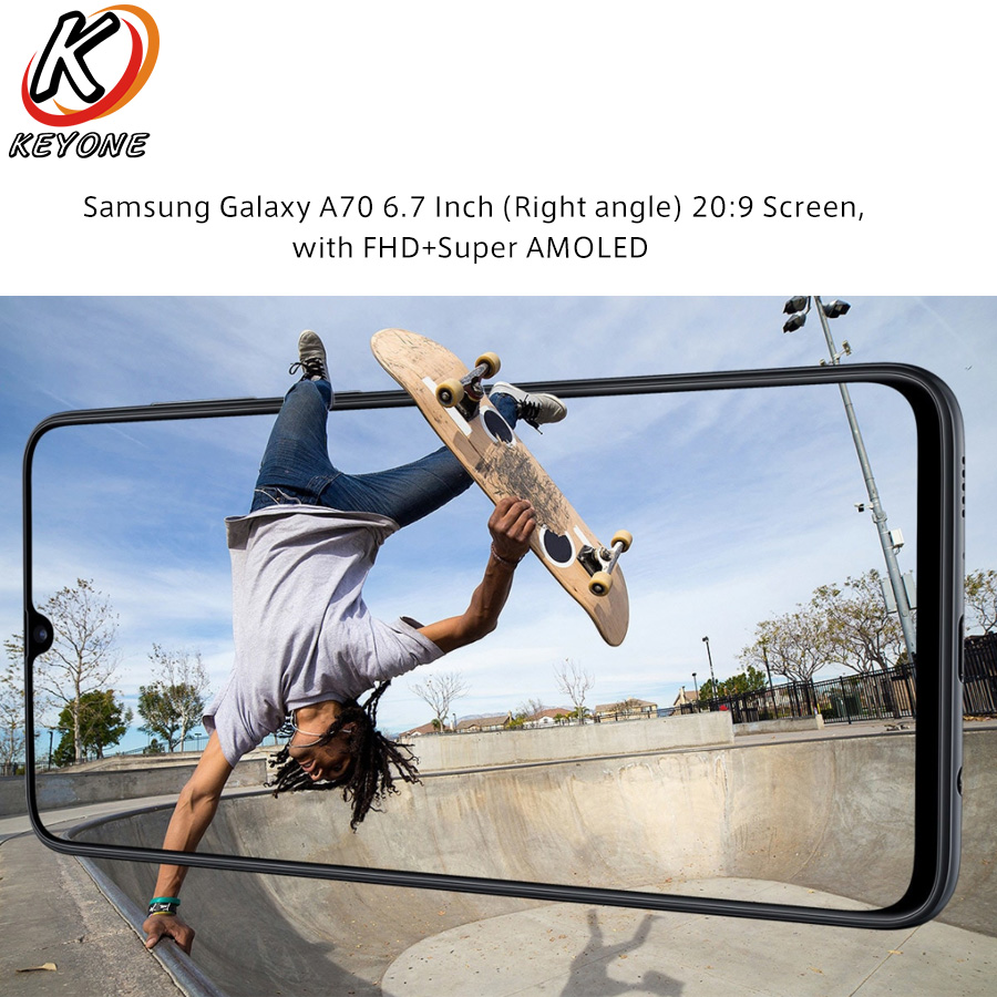 """Image 4 - New Samsung Galaxy A70 A7050 Mobile Phone 6.7"""" 6GB RAM 128GB ROM Snapdragon 675 Octa Core 20:9 Water Drop Screen NFC CellPhoneCellphones   -"""