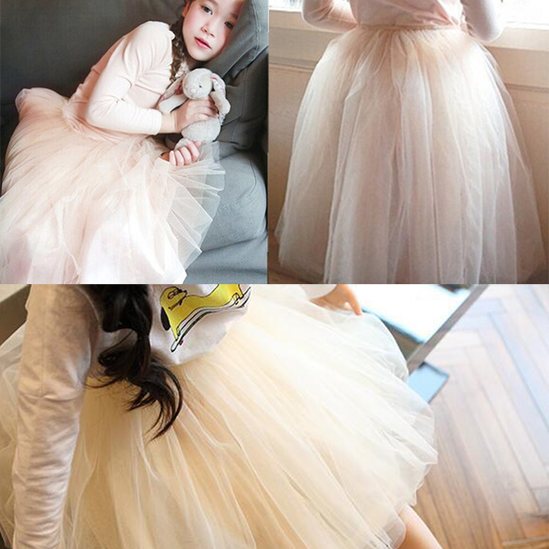 2017 2-8Y Cute Lovely Summer Baby Kids Girls Ball Gown Princess Skirt Party Tutu Skirt цена