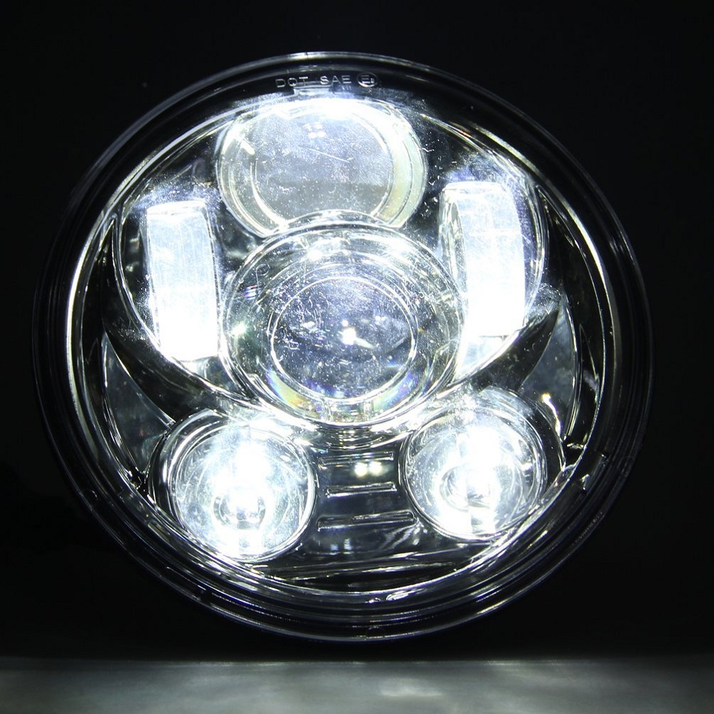5.75 Inch LED Headlight HighLow Beam 5 34'' LED Headlamp Driving Light for Harley Motorcycle Projector Headlight (17)