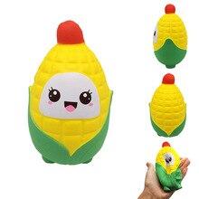 Cute Fairytale Fantasy Simulation Slow Rebound Corn Cartoon PU Food Model Soft Fruit Resin Decoration Girl Toy